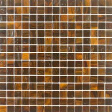 "<strong>Giorbello</strong> Summer Clouds 12-7/8"" x 12-7/8"" Glass Tile in Walnut"