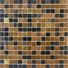 "<strong>Giorbello</strong> Golden Blends 12-7/8"" x 12-7/8"" Glass Tile in Amber Carat"