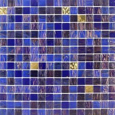 Golden Blends Glass Tile in Indigo Island