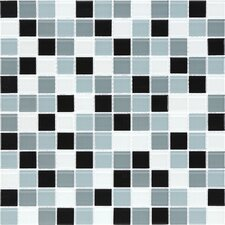 "<strong>Giorbello</strong> Cristezza Select 11-3/4"" x 11-3/4"" Mosaic Glass Tile in Black Pepper"