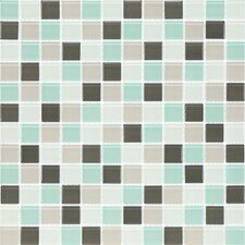 "<strong>Giorbello</strong> Cristezza Select 11-3/4"" x 11-3/4"" Mosaic Glass Tile in Serenity"