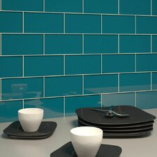 "Subway 6"" x 3"" Tile in Dark Teal"