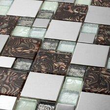 Venetian Random Sized Glass and Aluminum Tile in Florence
