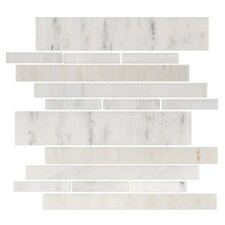 "<strong>Giorbello</strong> Stone Club 10-1/2"" x 9-1/2"" Tile in White Marble"