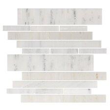 Stone Club Random Sized Tile in White Marble