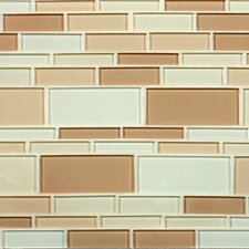 "California 10-1/2"" x 9-1/2"" Cristezza Glass Tile in Driftwood"