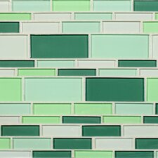 "California 10-1/2"" x 9-1/2"" Cristezza Glass Tile in Irish Meadow"