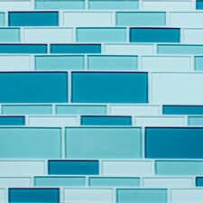 "California 10-1/2"" x 9-1/2"" Cristezza Glass Tile in Tropical Waterfall"