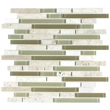 "Glacier Mountain 11-3/4"" x 11-3/4""Piano Stone and Glass Tile in Arizona"