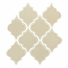 "Water Jet 9-3/4"" x 9-3/8"" Glass Tile in Ornamental Wood Ash"