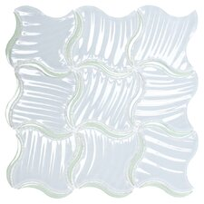 "Water Jet 12-4/5"" x 12-4/5"" Glass Tile in Paradise"