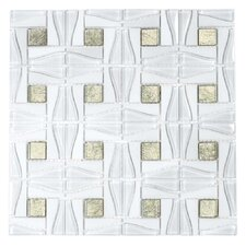 "Water Jet 11-4/5"" x 11-4/5"" Glass Tile in Modern Royalty"