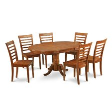 <strong>East West Furniture</strong> Portland 7 Piece Dining Set