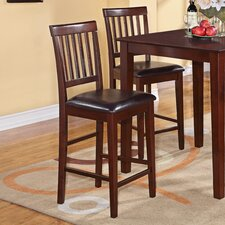 Vernon Counter Stools with Faux Leather Seat (Set of 2)