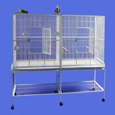 <strong>A&E Cage Co.</strong> Double Flight Bird Cage with Divider