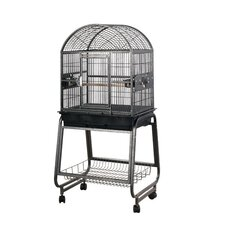 Medium Dome Top Style Bird Cage with Stand