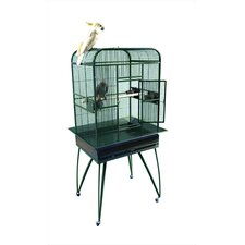 Opening Flat-Top Bird Cage with Removable Base