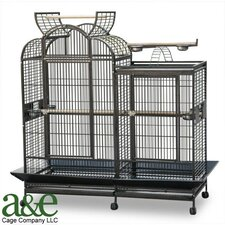 Large Split Level House Bird Cage with Divider