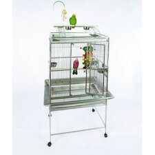<strong>A&E Cage Co.</strong> Medium Play Top Bird Cage with Bird Toy Hook