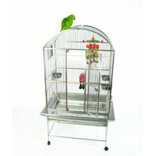 Small Stainless Steel Dome Top Bird Cage