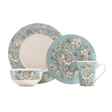 Country Toile 16 Piece Dinnerware Set