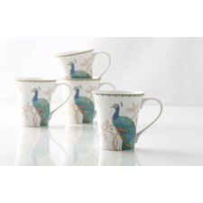 Peacock Garden Mug (Set of 4)
