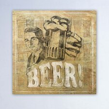 ''Beer'' Canvas Wall Art