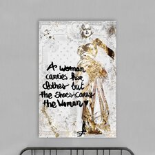 The Shoe Carries The Woman Canvas Art