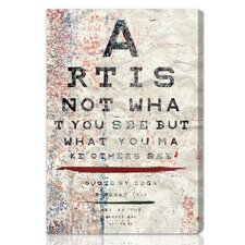 """Art is"" Textual Art on Canvas"