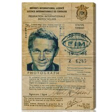 ''Steve McQueen's Driver License'' Graphic Art on Canvas