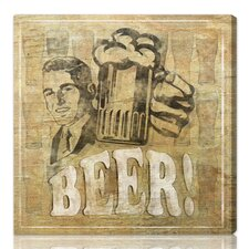 ''Beer'' Graphic Art on Canvas