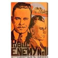 ''Dillinger Public Enemy'' Vintage Advertisement on Canvas
