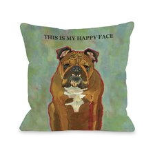 Doggy Décor This Is My Happy Face Pillow