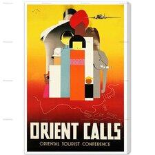Orient Calls Vintage Advertisment on Canvas