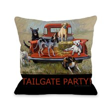 Doggy Décor Tailgate Party Pillow