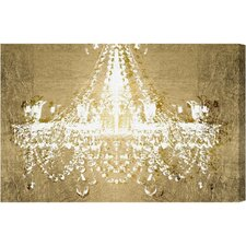 Dramatic Entrance Gold Graphic Art on Canvas