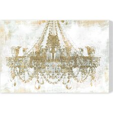 Gold Diamonds Graphic Art on Wrapped Canvas