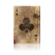 "<strong>Oliver Gal</strong> ""Ace of Clubs"" Canvas Art Print"