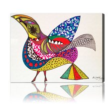 "<strong>Oliver Gal</strong> ""Bird"" Canvas Art Print"