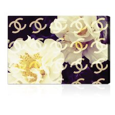 """Coco""s Camellia Vanilla"" Graphic Art on Canvas"