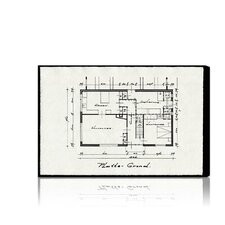 """Dessins Architecturaux II"" Canvas Art Print"