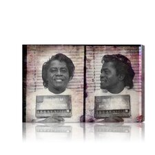 ''James Brown Mugshot'' Canvas Art Print