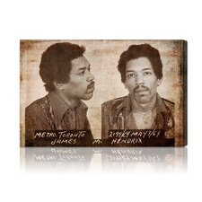 ''Jimmy Hendrix Mugshot'' Canvas Art Print