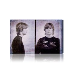 ''Kurt Cobain Mugshot'' Graphic Art on Canvas