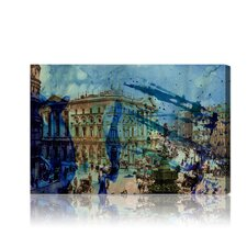 ''Picadilly'' Graphic Art on Canvas