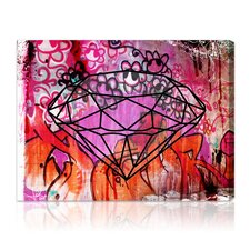 """Rock Solid"" Graphic Art on Canvas"
