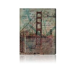''San Francisco Bridge'' Canvas Art Print