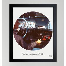 ''Turn on your HiFi'' Framed Art Print