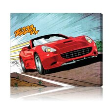 ''Vroom'' Graphic Art on Canvas