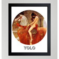 <strong>Oliver Gal</strong> ''Yolo'' Framed Graphic Art